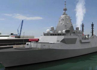 Hunter class frigate Type 26 GCS BAE Systems 3D-2