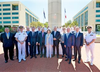 The agreement was signed in the presence of Prime Minister Scott Morrison, The Hon. Christopher Pyne, Minister for Defence and Florence Parly, French Minister for the Armed Forces.