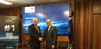 Naval Shipbuilding College Program Director Bill Docalovich and Australian Maritime College Principal Michael van Balen AO.