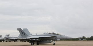 A Royal Australian Air Force F/A-18F Super Hornet
