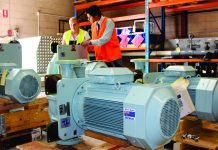 CIRCOR IMO Allweiler MIL-Spec pumps pre-checked before delivery to Australia's fleet.
