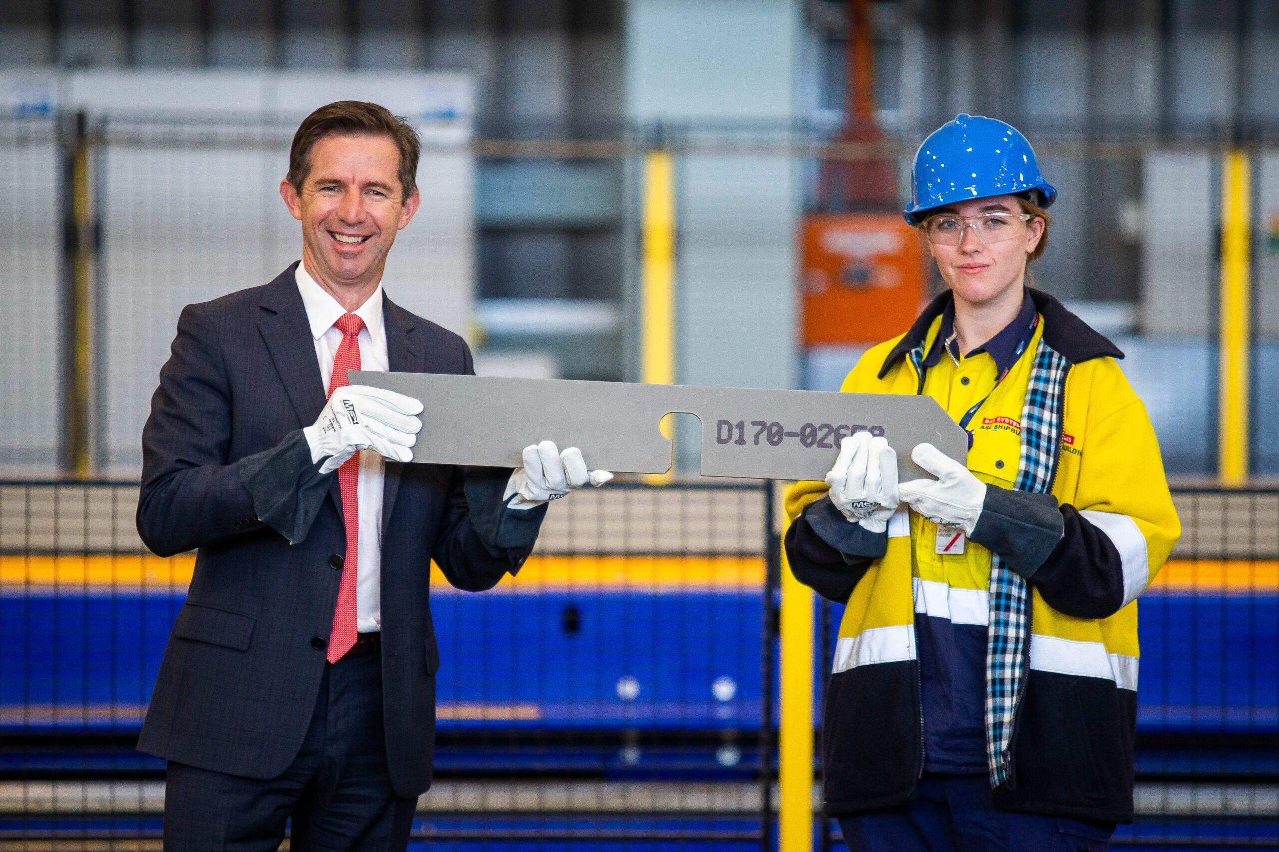 Steel cutting marks milestone for Hunter Class Frigate - APDR